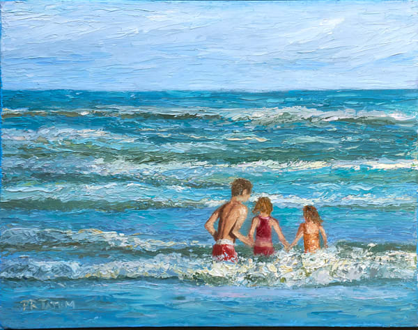 Playing In The Waves Art | Pamela Ramey Tatum Fine Art