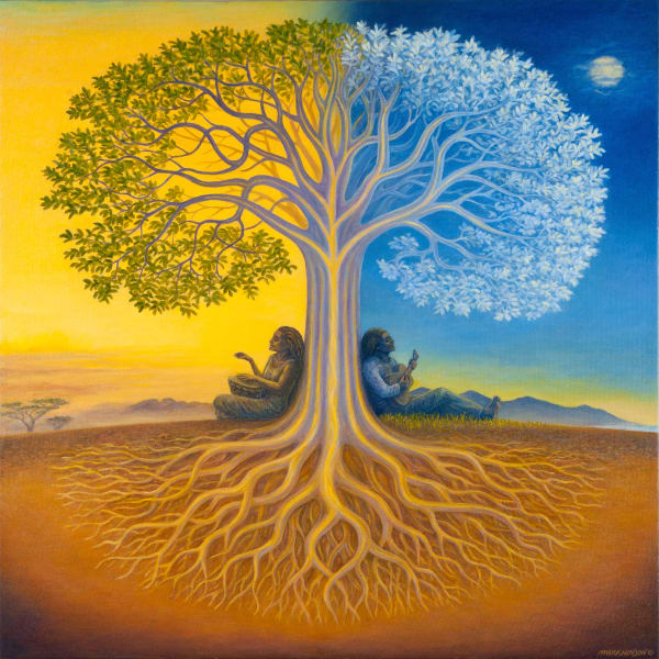 Djangoe's Tree custom print from the original painting by Mark Henson