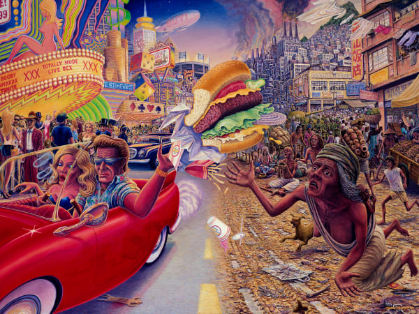 Sharing the Wealth custom print from the original painting by Mark Henson
