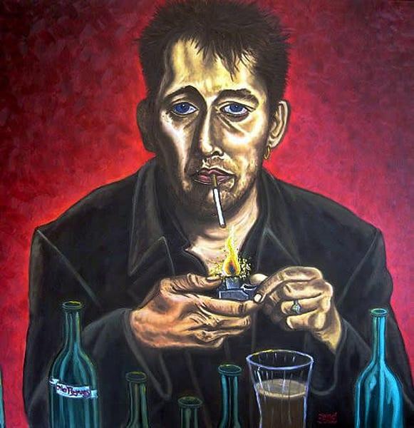 Shane MacGowan original PMS painting