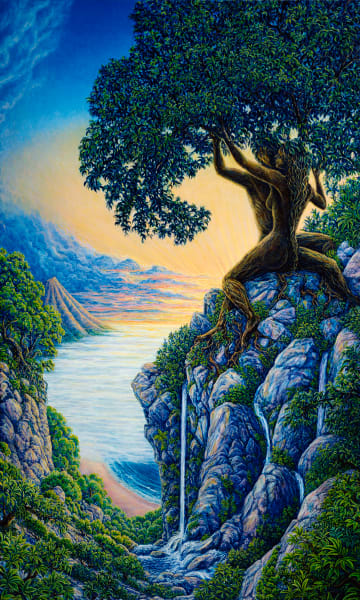 Arboreal Affection custom print from the original painting by Mark Henson