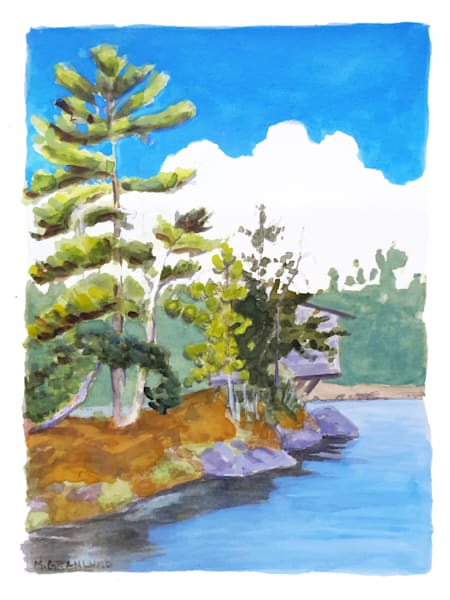 Cabin Point painting by Mark Granlund