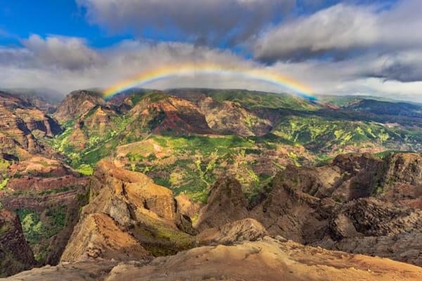 Hawaii Nature Photography | Waimea Canyon Rainbow by Peter Tang