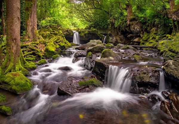 Hawaii Nature Photography | Waterfalls Down the Stream by Peter Tang