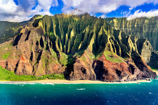 Hawaii Aerial Photography | Na Pali Cathedrals by Peter Tang