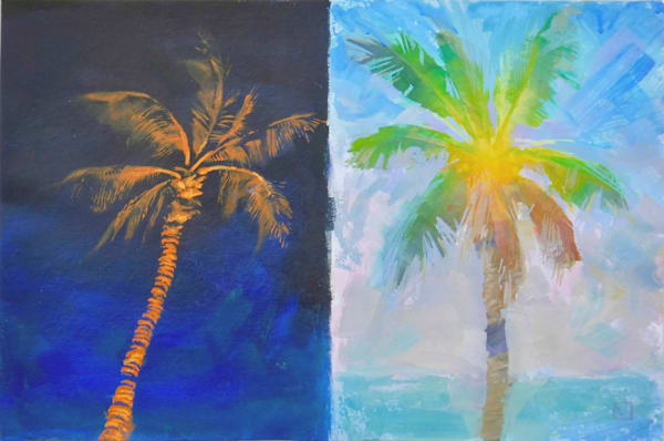 Hawaii Acrylic Art | Night and Day by Mark Martel