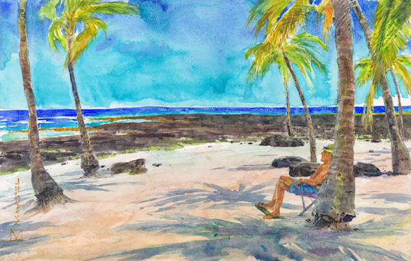 Watercolor Art | Jerry's Beach by Mark Martel