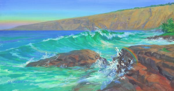 Hawaii Acrylic Art | Kealakekua Rainbows by Mark Martel