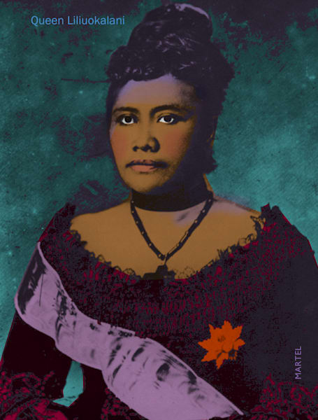 Hawaii Pop Art | Queen Liliuokalani by Mark Martel