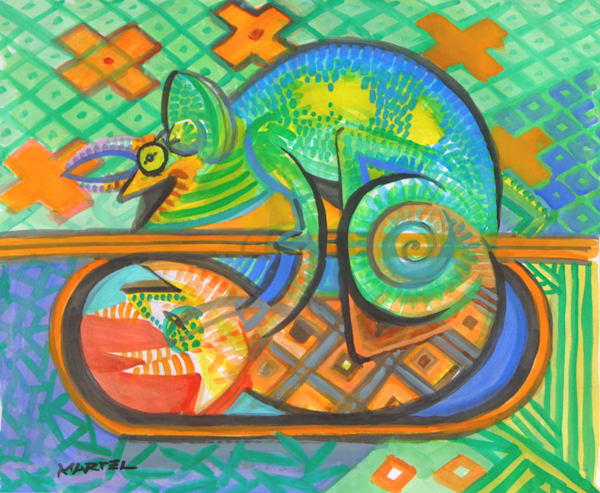 Hawaii Art | Chameleon by Mark Martel