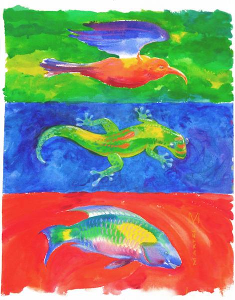 Hawaii Art | RGB Wildlife by Mark Martel