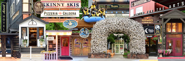 Jackson Hole historic Wyoming Street Level - Collage - Fine Art Prints on Metal, Canvas, Paper & More By Kevin Odette Photography
