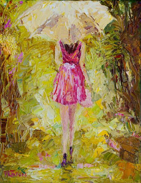 Under My Yellow Umbrella Art | Pamela Ramey Tatum Fine Art
