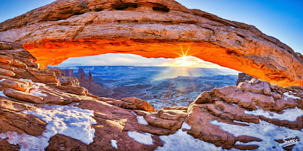 Fire Above the Ice - Canyonlands National Park, Utah