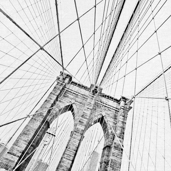 Brooklyn Bridge I by Artist Lillis Werder Wrapped Canvas Art Print