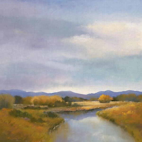 Riverside by artist Teri Jonas Wrapped Canvas Art Print