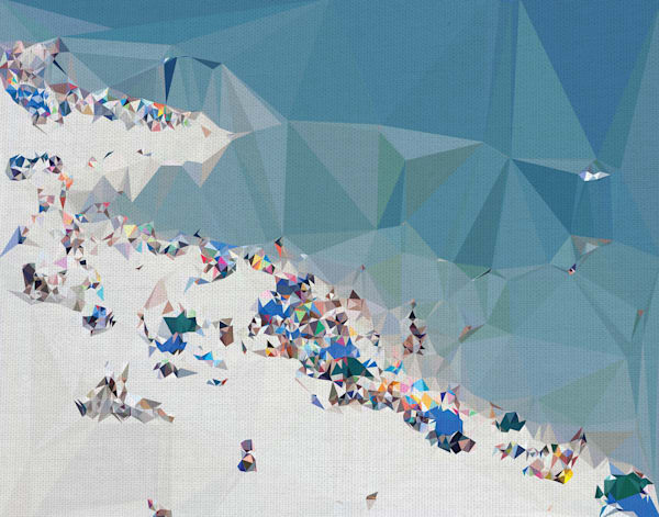 Fractal Beach I by The Studio Wrapped Canvas Art Print