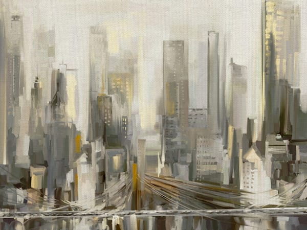 City Lights by Studio Arts Wrapped Canvas Art Print