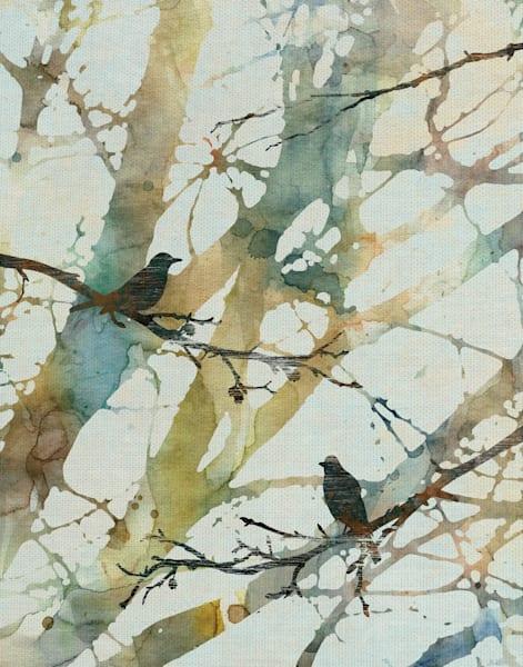 Botanical Birds II by artist Carol Robinson Wrapped Canvas Art Print
