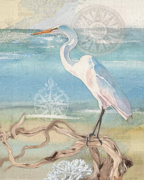 Egret by Lynnea Washburn Wrapped Canvas Art Print