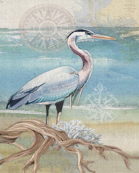 Heron by Lynnea Washburn Wrapped Canvas Art Print