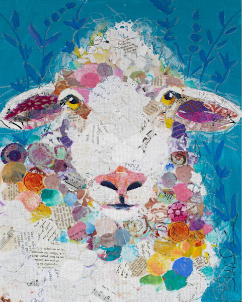 I Love Ewe by Elizabeth St. Hiliaire Wrapped Canvas Art Print