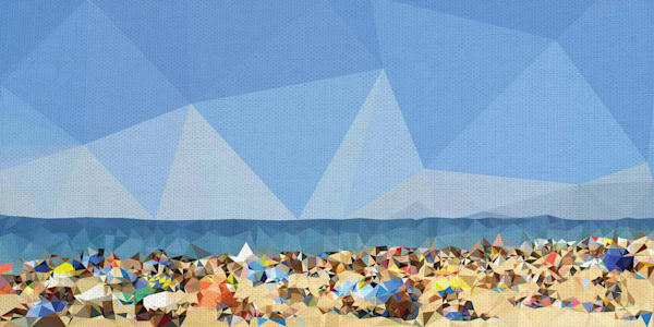 Beach Fragments C by The Studio Wrapped Canvas Art Print