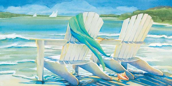 Seaside Breeze by artist Kathleen Denis Wrapped Canvas Art Print