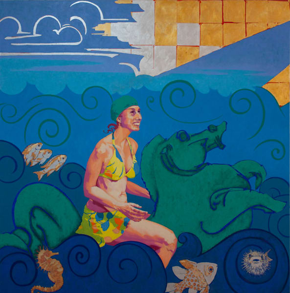 """Marie Hines Cowan oil painting titled """"Amphitrite"""""""
