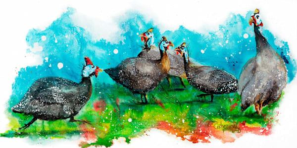 Ink Series - Guinea Fowl I
