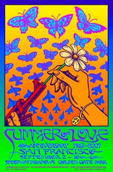 Summer of Love 2007  12x18 inch poster signed