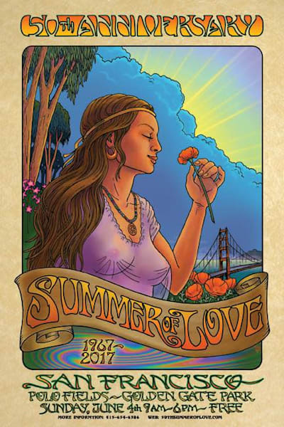 Summer of Love 2017 poster, ltd. edition, 50th anniversary