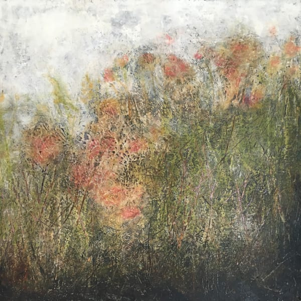 Misty Morning Meadow- Poppies