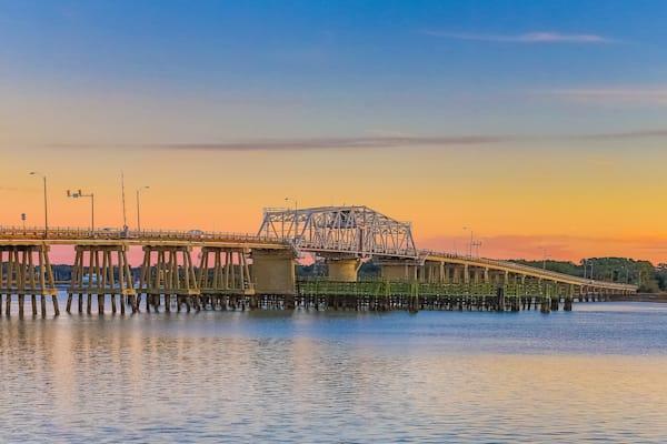 Swing Bridge Sunrise Photography Art | Phil Heim Photography