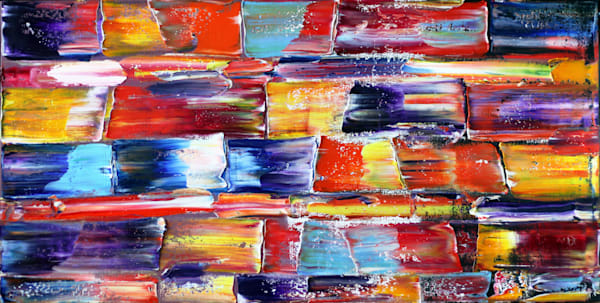 Liberation large abstract oil painting