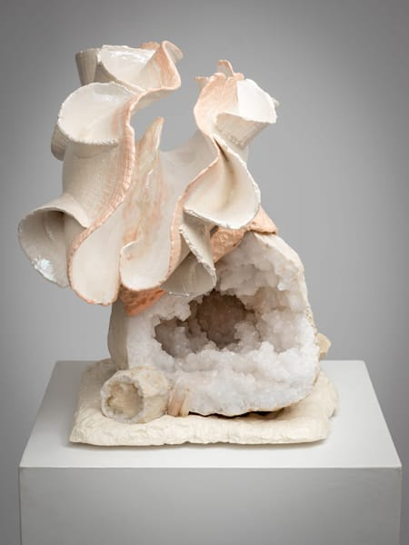 Seashell Sculpture with Geode