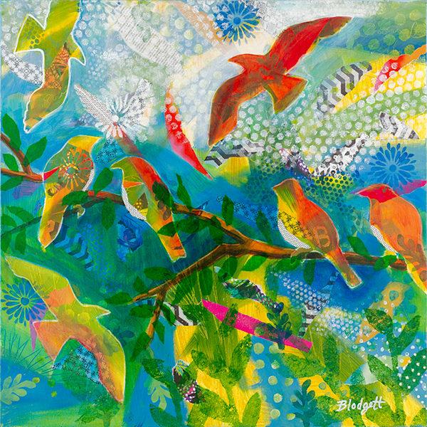 16x16 Jungle Birds Art   HFA print gallery