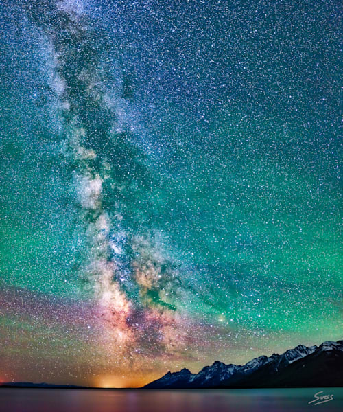 Milky Way over Jackson Lake - Grand Teton National Park