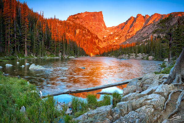 Dream Lake Sunrise - Rocky Mountain National Park Colorado