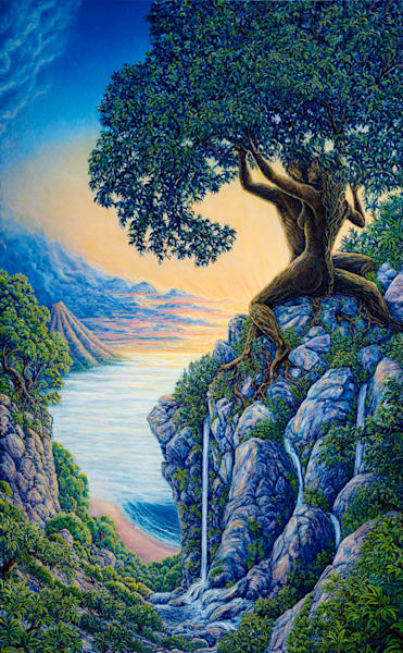 Arboreal Affection original oil painting by Mark Henson