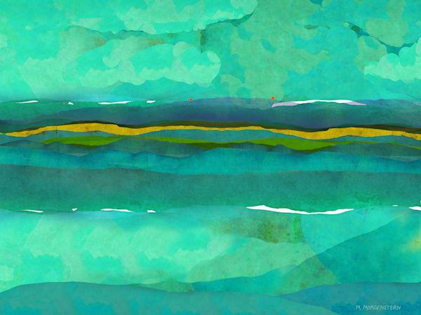 Calm Turquoise Landscape