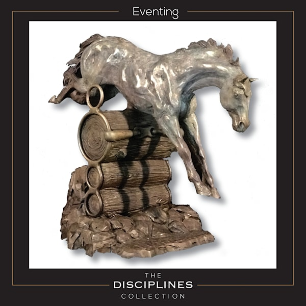 eventing sculpture, eventing bronze, eventing artwork, weg, world equestrian games, discipline collection