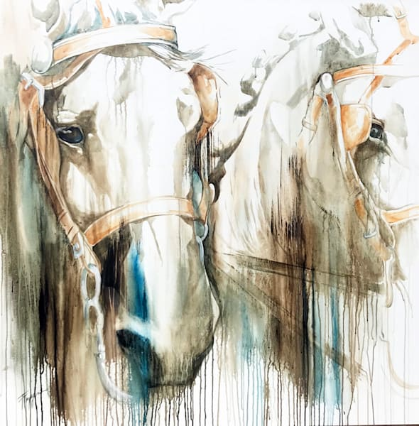 Lead Team Driving World Equestrian Games | Tammy Tappan Art