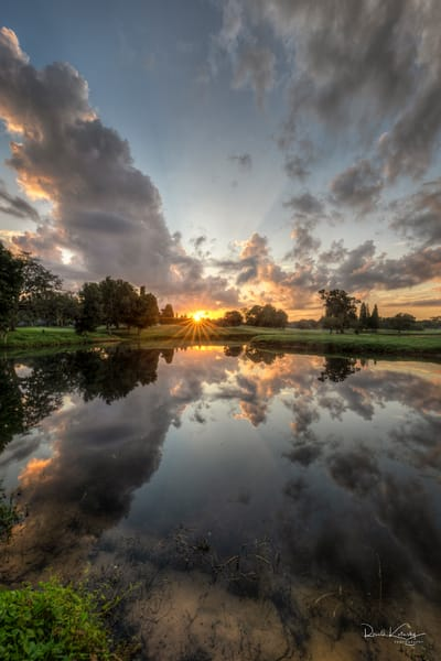 Sunrise Clouded Reflections Photographic Fine Art