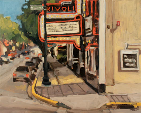 Rivoli Lights Original Painting