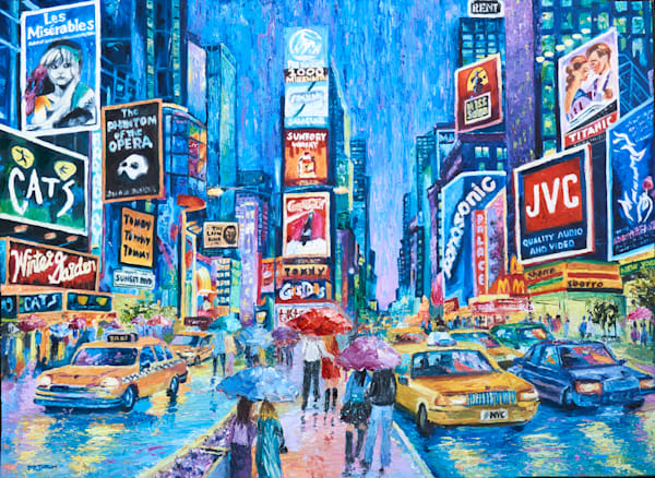 Lovers In Times Square Iv Art | Pamela Ramey Tatum Fine Art