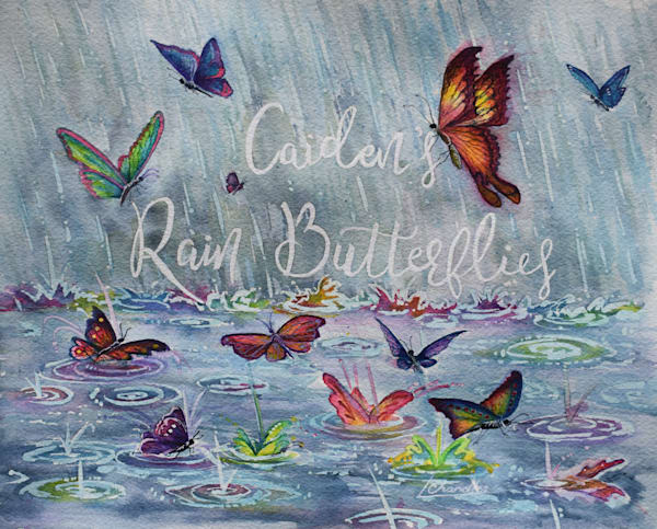 Rain, butterflies, water