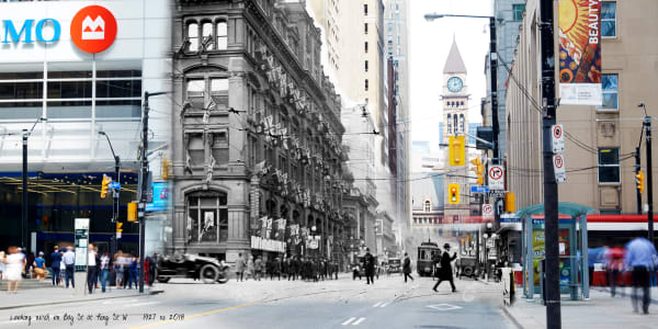 Past Present - King & Bay 1927
