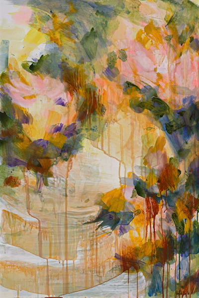 Pink Pond Art | Caroline Wright Art
