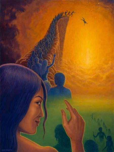 Into the Void custom print from the original painting by Mark Henson